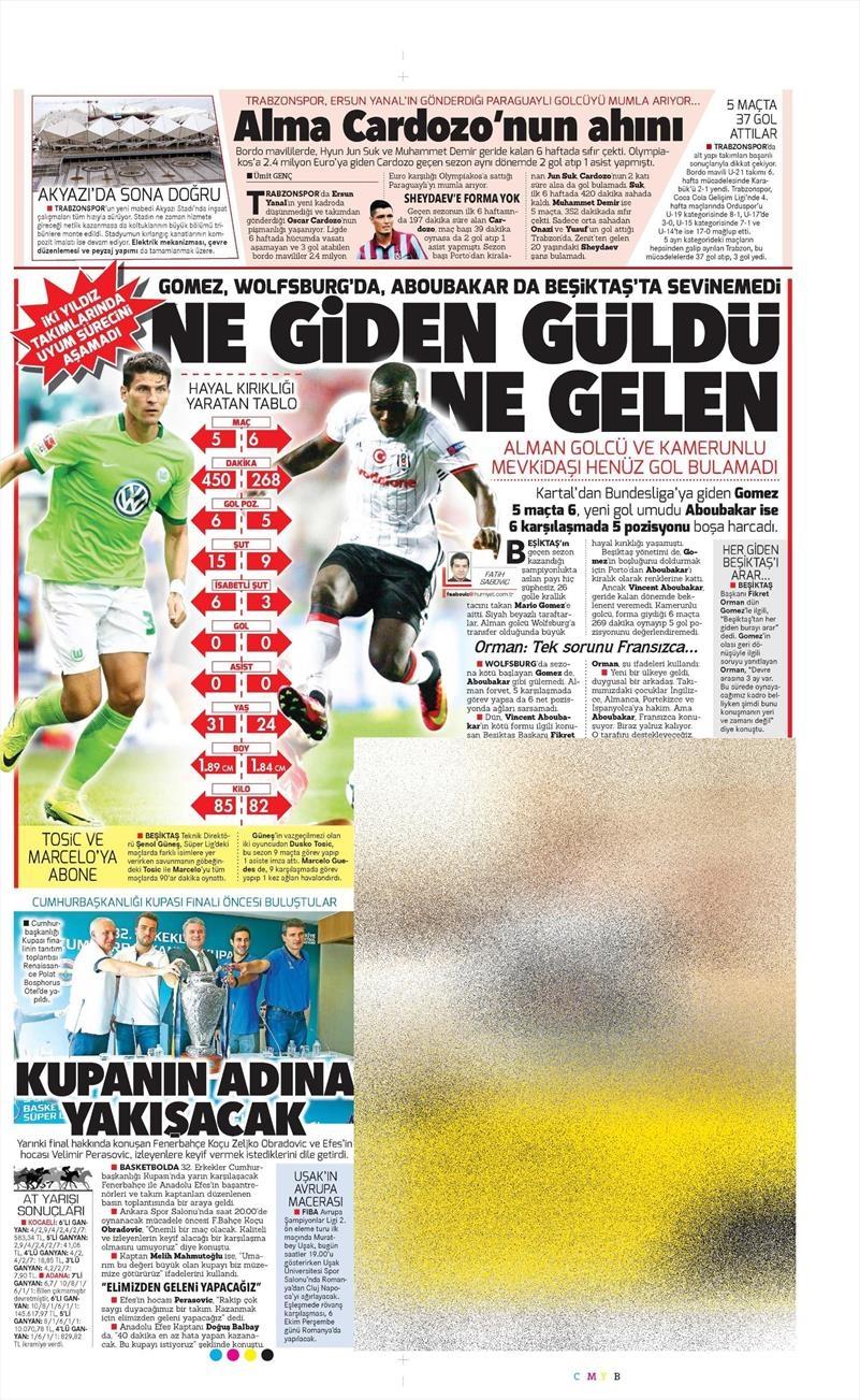 4 Ekim 2016 | Beşiktaş sayfaları 7