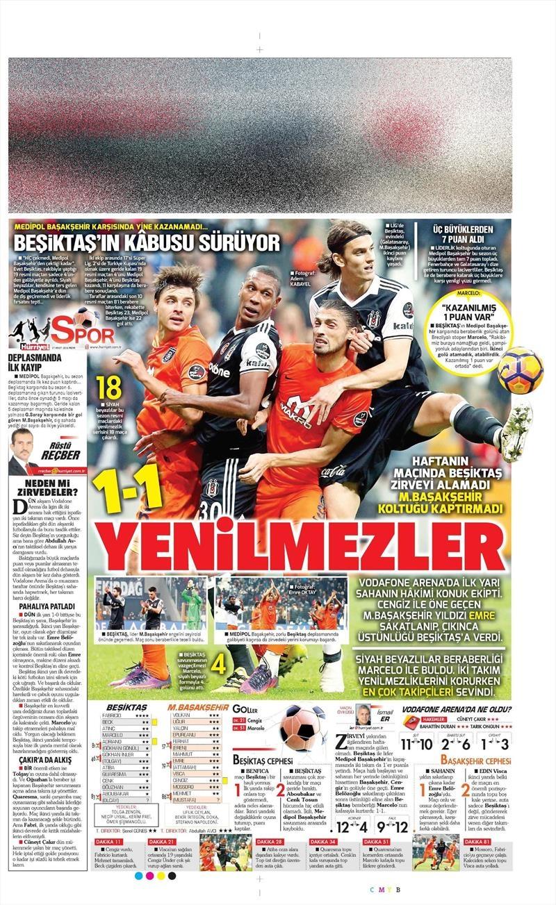 27 Kasım 2016 | Gazetelerin Beşiktaş sayfaları 11