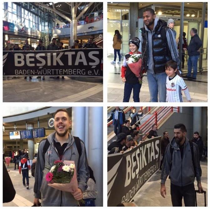 Beşiktaş'ı Almanya'da yalnız bırakmadılar 5