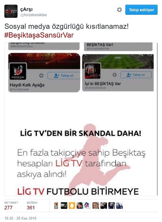 Çarşı'dan Beşiktaş sansürüne tepki 2