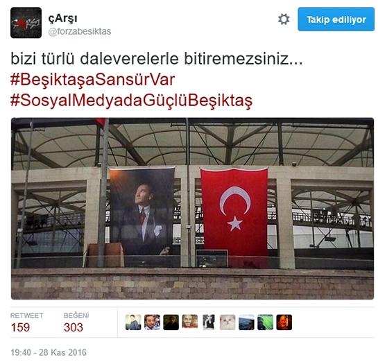 Çarşı'dan Beşiktaş sansürüne tepki 6