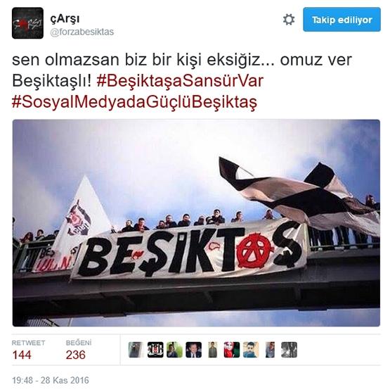 Çarşı'dan Beşiktaş sansürüne tepki 7
