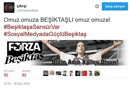 Çarşı'dan Beşiktaş sansürüne tepki 8
