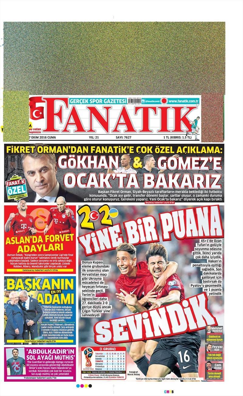 7 Ekim 2016 | Beşiktaş sayfaları 3