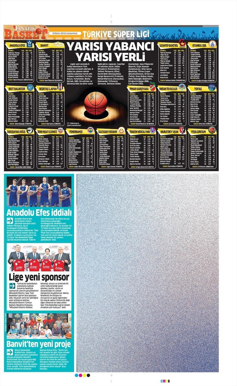 8 Ekim 2016 | Beşiktaş sayfaları 2