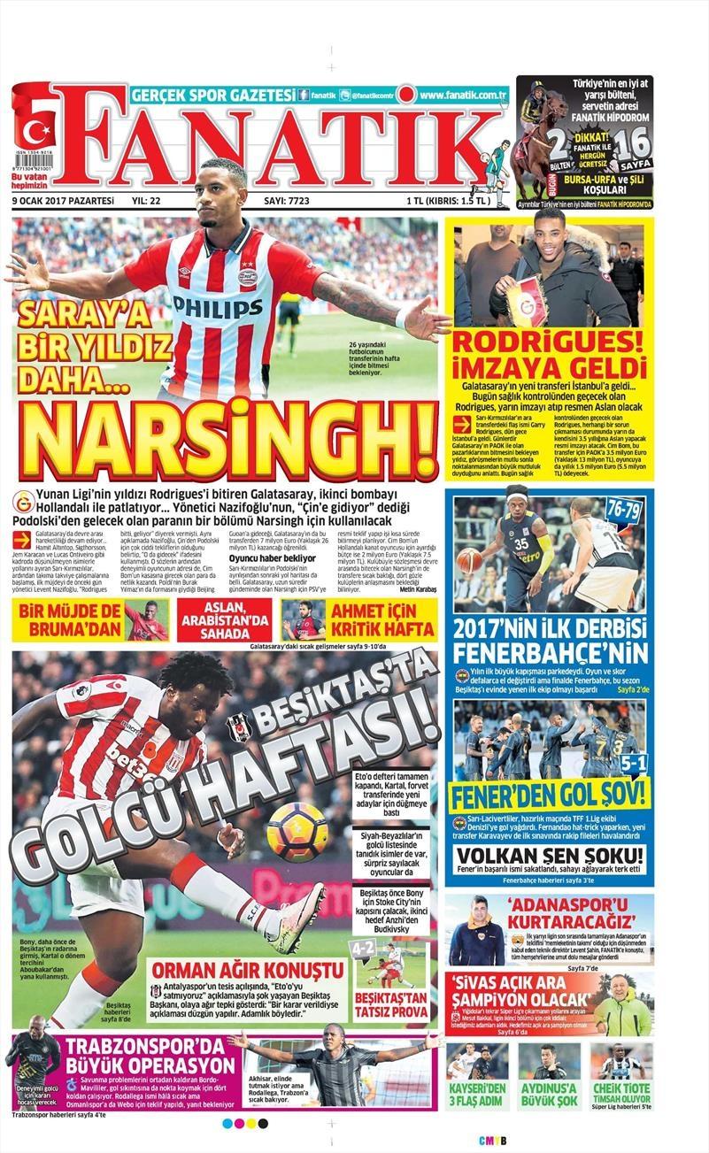9 Ocak 2017   İşte gazetelerin Beşiktaş manşetleri 1