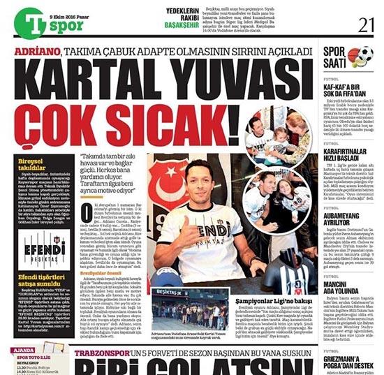 9 Ekim 2016 | Gazetelerin Beşiktaş sayfaları 7