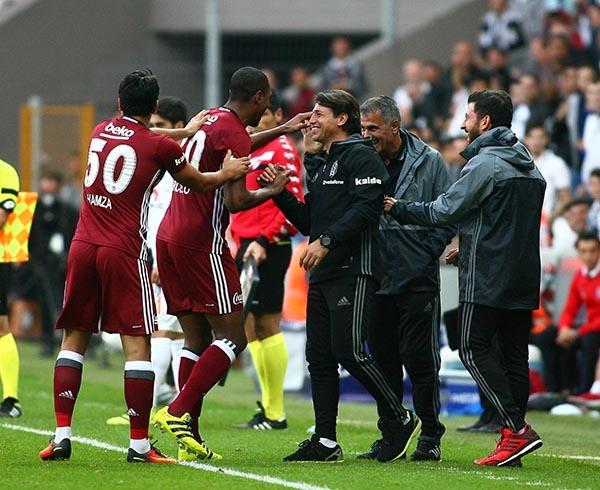 Beşiktaş-Başakşehir maçından kareler 40