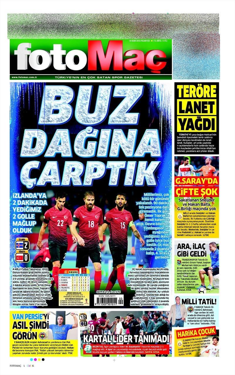 10 Ekim 2016 | Gazetelerin Beşiktaş Sayfaları 5