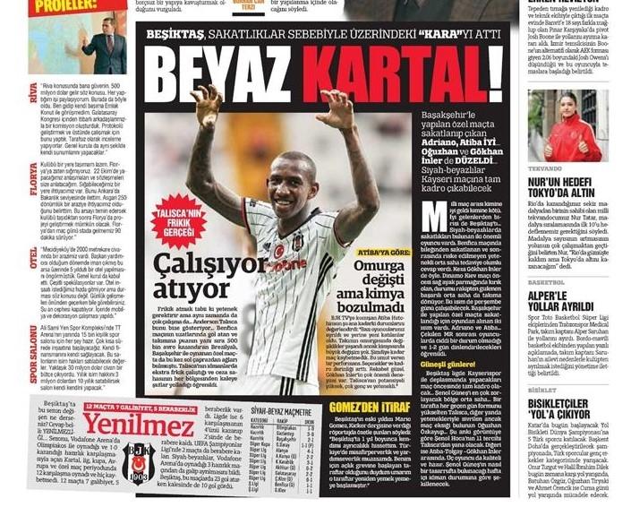 11 Ekim 2016 | Gazetelerin Beşiktaş manşetleri 11