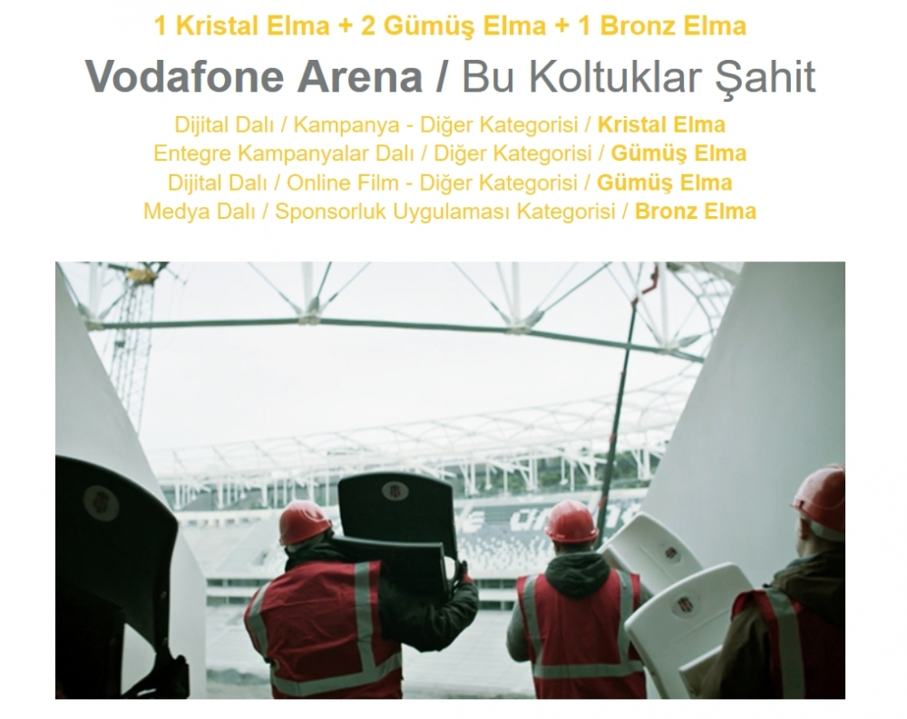 Vodafone Arena'ya 17 ödül 2