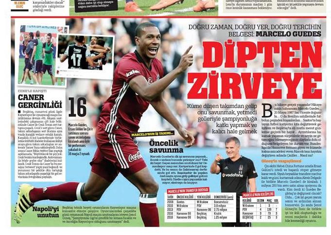 12 Ekim 2016 | Gazetelerin Beşiktaş manşetleri 2