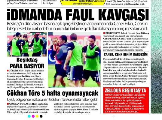 12 Ekim 2016 | Gazetelerin Beşiktaş manşetleri 3