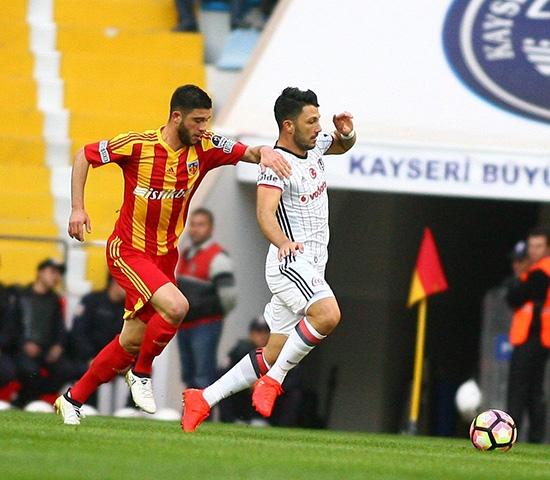 Kayserispor-Beşiktaş maçından kareler 1
