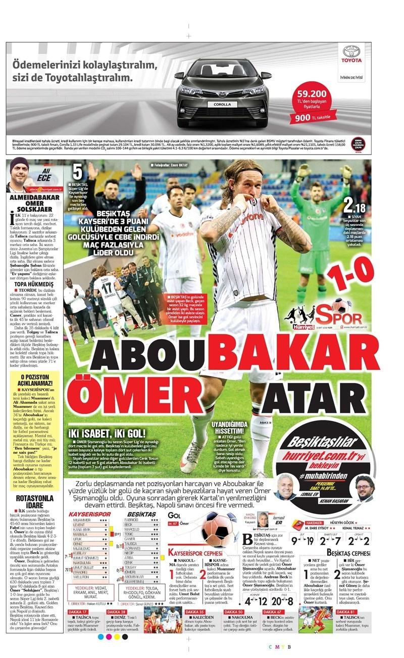 16 Ekim 2016 | Gazetelerin Beşiktaş Manşetleri 5