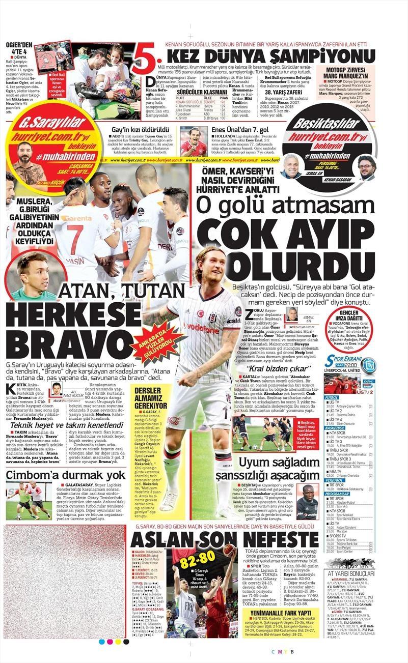 17 Ekim 2016   Gazetelerin Beşiktaş manşetleri 6