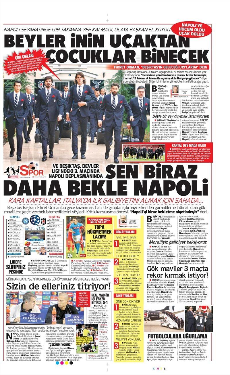 19 Ekim Çarşamba | Gazetelerin Beşiktaş Manşetleri 11