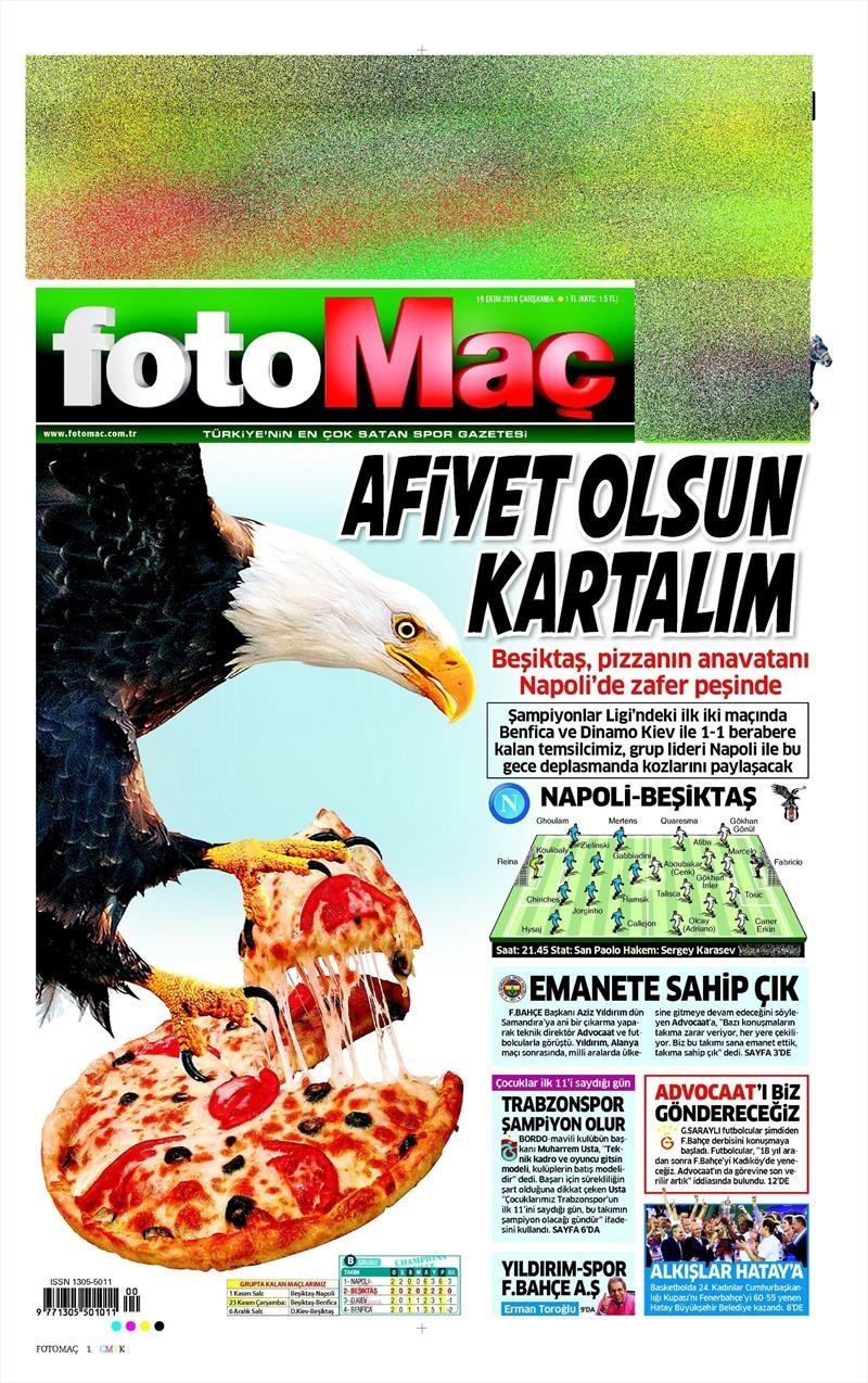 19 Ekim Çarşamba | Gazetelerin Beşiktaş Manşetleri 6