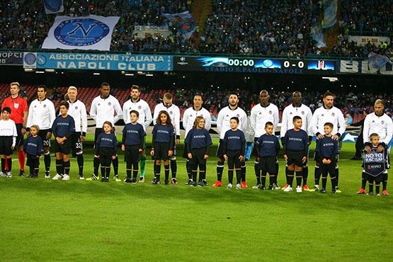 Napoli-Beşiktaş maçından kareler 1
