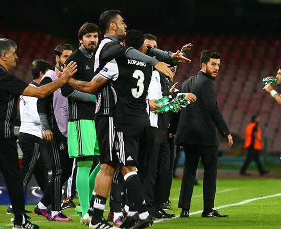 Napoli-Beşiktaş maçından kareler 11