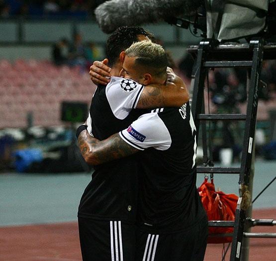 Napoli-Beşiktaş maçından kareler 17