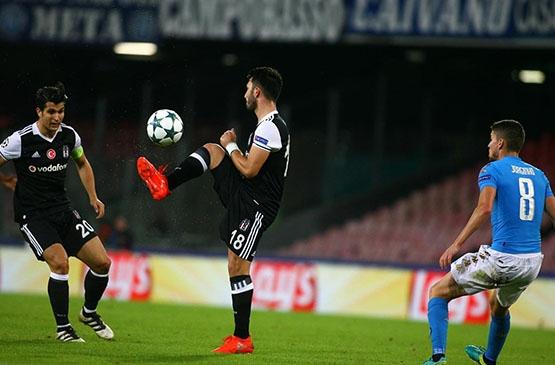 Napoli-Beşiktaş maçından kareler 2