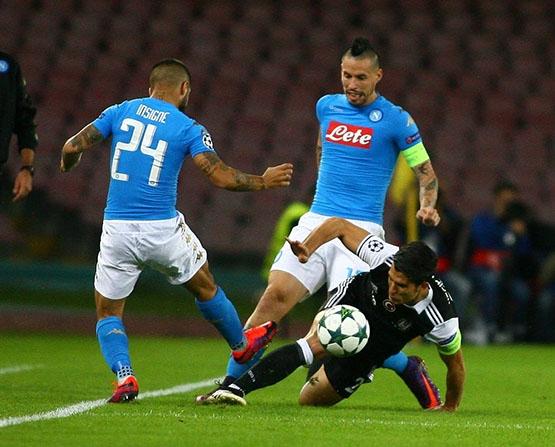 Napoli-Beşiktaş maçından kareler 21