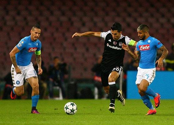 Napoli-Beşiktaş maçından kareler 25