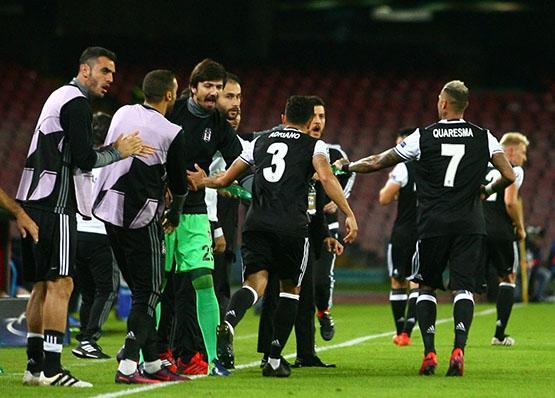 Napoli-Beşiktaş maçından kareler 3