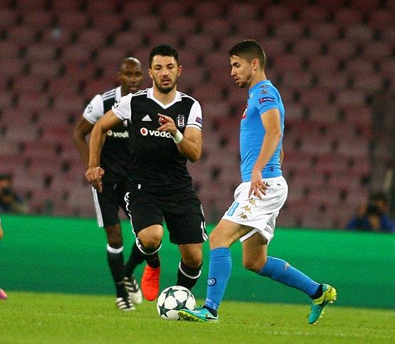 Napoli-Beşiktaş maçından kareler 6