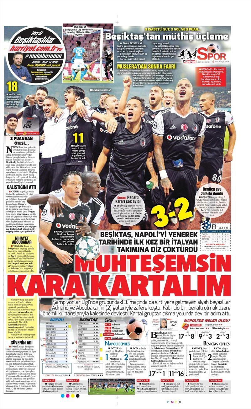 20 Ekim 016 | Gazetelerin Beşiktaş Sayfaları 15