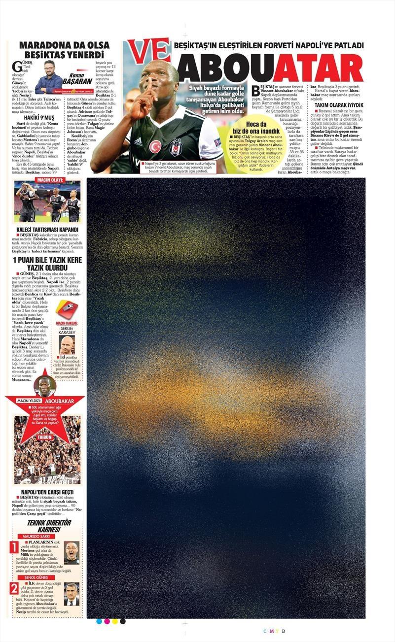 20 Ekim 016 | Gazetelerin Beşiktaş Sayfaları 17