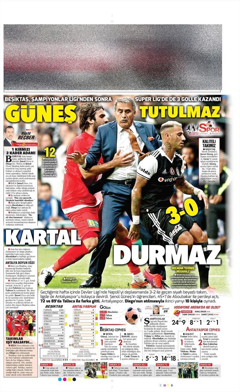 24 Ekim 2016 | Gazetelerin Beşiktaş sayfaları 14