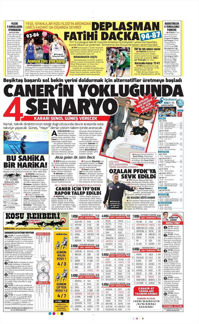 26 Ekim 2016 | Gazetelerin Beşiktaş manşetleri 8
