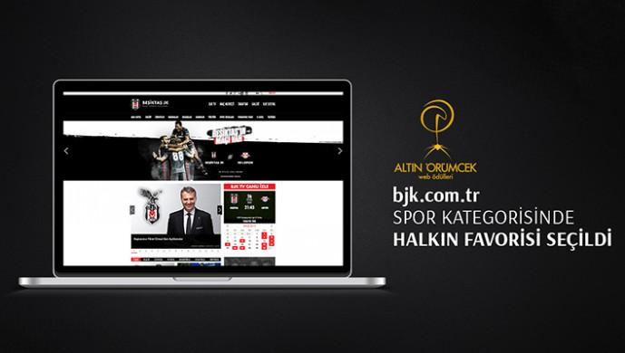 Beşiktaş'ın resmi sitesine büyük ödül