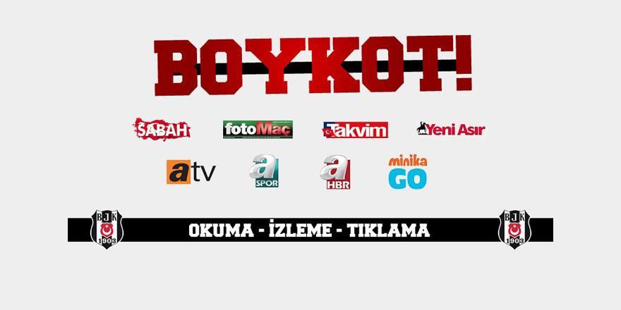 Beşiktaş taraftarından boykot kampanyası