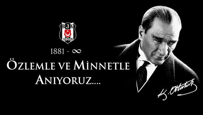 Beşiktaş'tan 10 Kasım mesajı