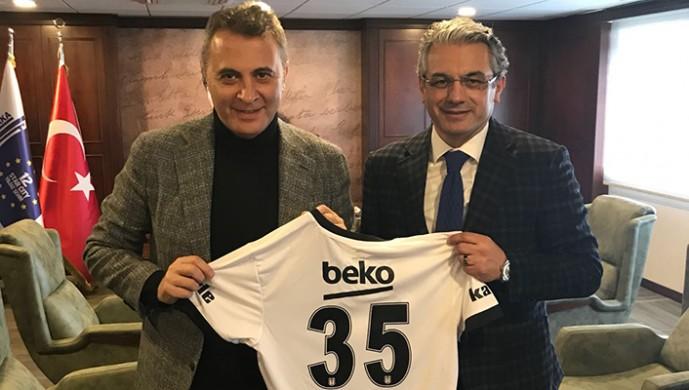 Fikret Orman'dan Karşıyaka Belediye Başkanı Hüseyin Mutlu Akpınar'a ziyaret