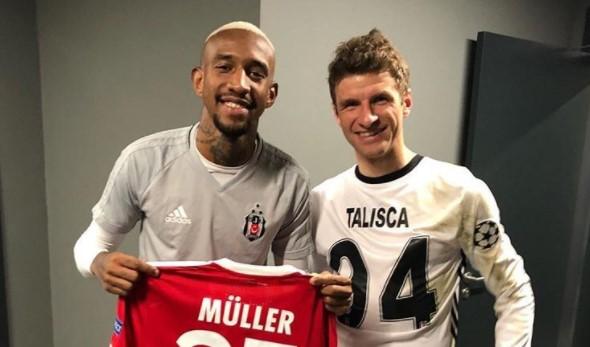 Talisca ve Müller formaları değiştirdi! Müller, Beşiktaş formasını giydi