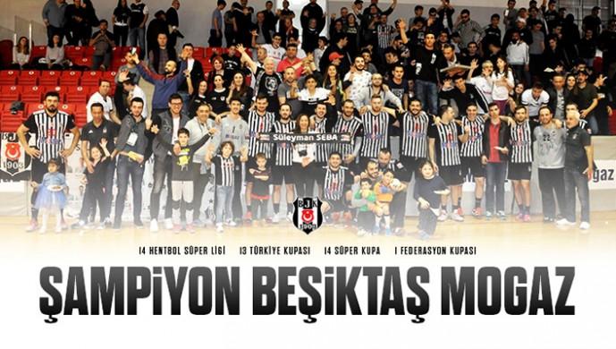 Beşiktaş Mogaz, 42. kupasını kazandı