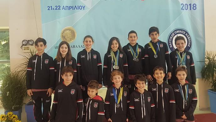 Kapalıçarşı Beşiktaşlılar Derneği Yüzme Akademisi'nden dört ikincilik