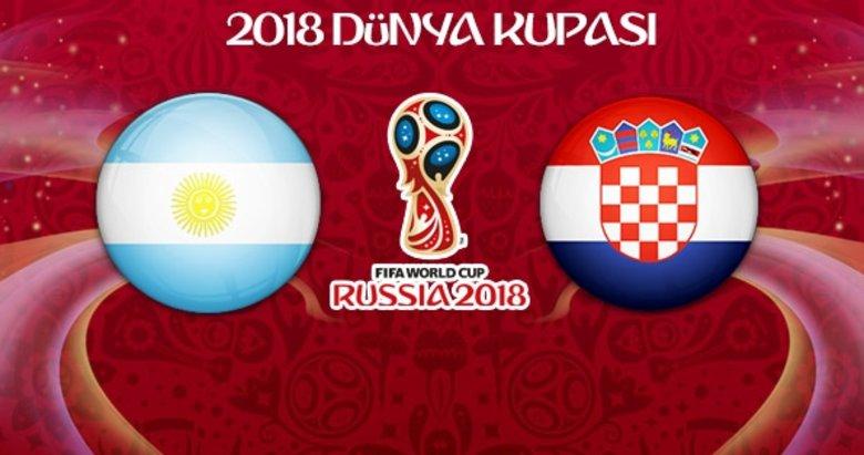 Arjantin - Hırvatistan maçının 11'leri belli oldu! Vida...