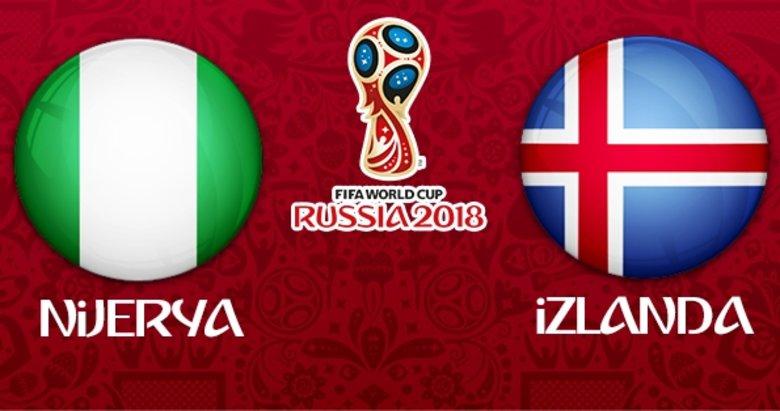 Nijerya-İzlanda maçı ne zaman, saat kaçta, hangi kanalda?