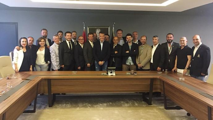 Bursa Beşiktaşlılar Derneği'nden Fikret Orman'a ziyaret