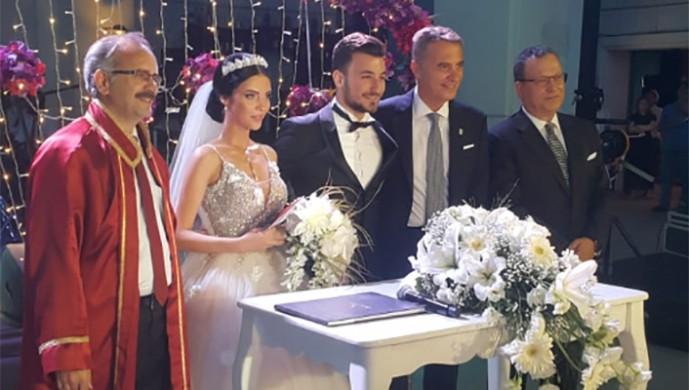 Fikret Orman, Mertcan Demirer'in nikah törenine katıldı