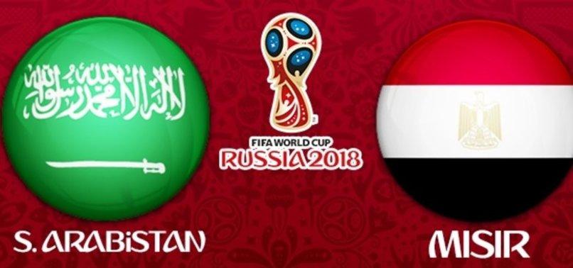 Suudi Arabistan - Mısır maçının11'leri belli oldu!