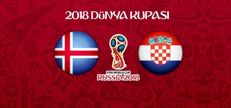 İzlanda - Hırvatistan maçının 11'leri belli oldu! Vida...