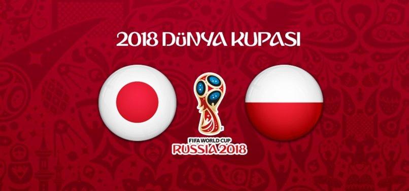 Japonya - Polonya maçının 11'leri belli oldu!