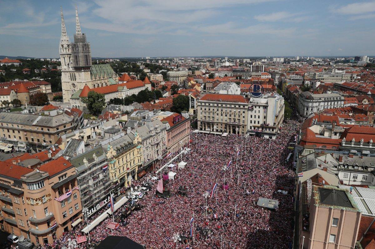 Zagreb'te, Hırvatistan'a coşkulu karşılama! Vida'ya özel ilgi...