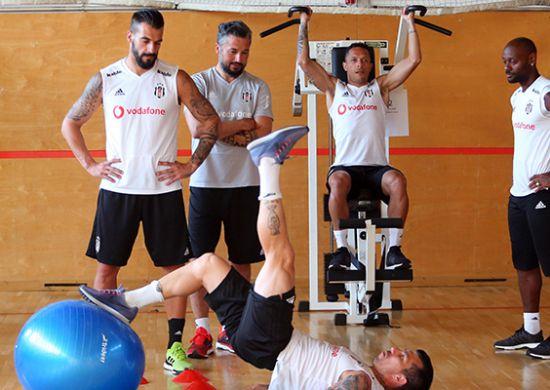 Beşiktaş kuvvet ve kondisyon çalıştı